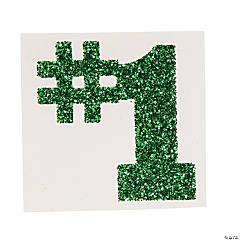 #1 Green Glitter Tattoo Stickers