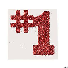 #1 Red Glitter Tattoo Stickers