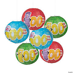 100th Day of School Classroom Hanging Paper Lanterns
