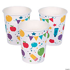 100th Day of School It's a Party Paper Cups