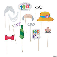 100th Day of School Photo Stick Props