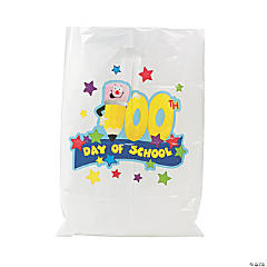 100th Day of School Plastic Goody Bags