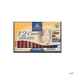 12-Color Conte Crayon Sets Portrait