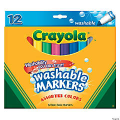 12-Color Crayola® Washable Conical Tip Markers