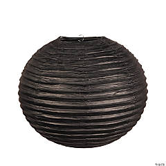 "18"" Black Hanging Paper Lanterns"