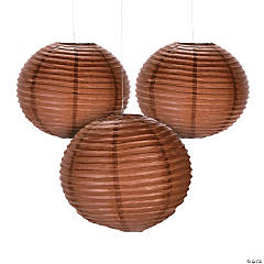 "18"" Copper Hanging Paper Lanterns"