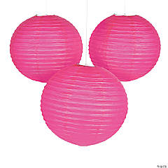 "18"" Hot Pink Hanging Paper Lanterns"