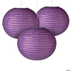 "18"" Italian Plum Hanging Paper Lanterns"