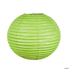 "18"" Lime Green Hanging Paper Lanterns"