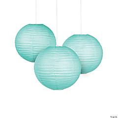 "18"" Mint Green Hanging Paper Lanterns"
