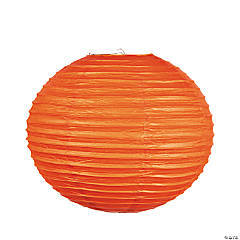 "18"" Orange Hanging Paper Lanterns"