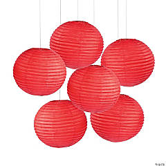"18"" Red Hanging Paper Lanterns"