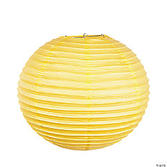 "18"" Yellow Hanging Paper Lanterns"