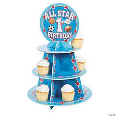 "1st Birthday ""All Star"" Cupcake Stand"