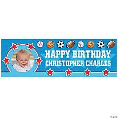 1st Birthday All Star Custom Photo Banners