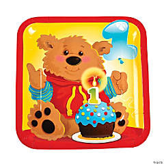 1st Birthday Bear Dinner Plates