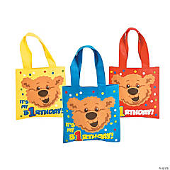 1st Birthday Bear Mini Totes