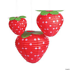 1st Birthday Berry  Hanging Paper Lanterns