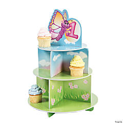 "1st Birthday ""Butterfly"" Cupcake Stand"