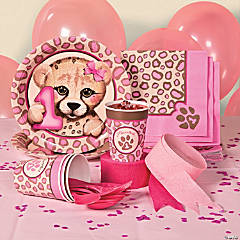 1st Birthday Cheetah Basic Party Pack