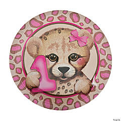 1st Birthday Cheetah Dinner Plates
