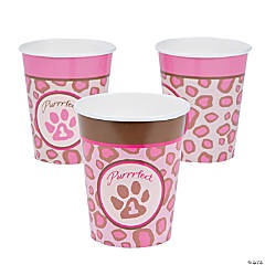 1st Birthday Cheetah Paper Cups