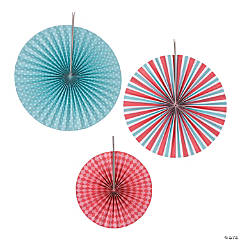 1st Birthday Circus Hanging Fans