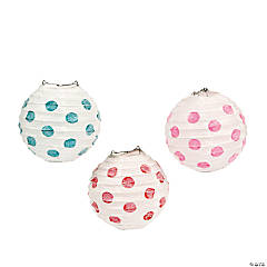1st Birthday Circus Polka Dot Glitter Lanterns