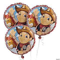 1st Birthday Cowboy Mylar Balloons