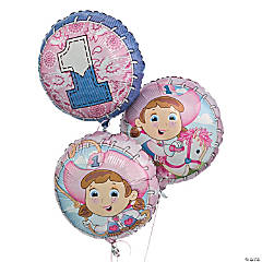 1st Birthday Cowgirl Mylar Balloons