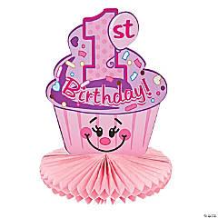 1st Birthday Cupcake Centerpiece