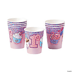 1st Birthday Cupcake Paper Cups