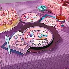 1st Birthday Cupcake Party Supplies