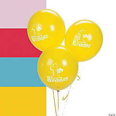 1st Birthday Latex Balloons