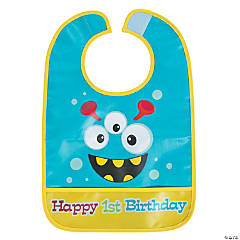 1st Birthday Mini Monster Bib