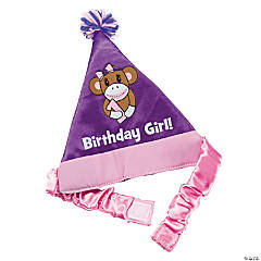 1st Birthday Miss Sock Monkey Party Hat
