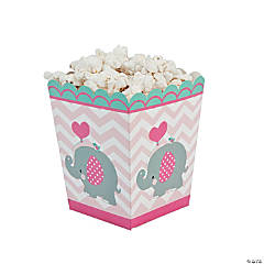 1st Birthday Pink Elephant Popcorn Boxes