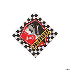 1st Birthday Race Car Beverage Napkins