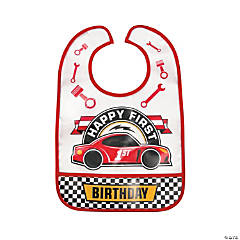 1st Birthday Race Car Bib