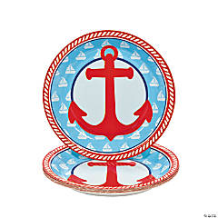 1st Birthday Sailor Paper Dessert Plates