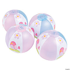 1st Birthday Tweet Mini Beach Balls
