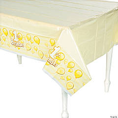 1st Birthday Yellow Plastic Tablecloth
