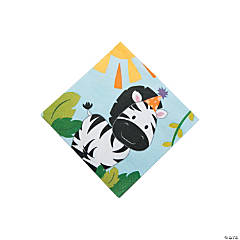 1st Birthday Zoo Beverage Napkins