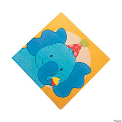 1st Birthday Zoo Luncheon Napkins