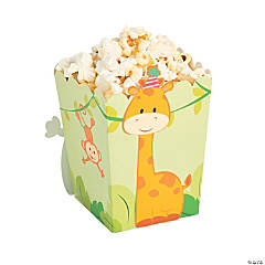 1st Birthday Zoo Popcorn Boxes