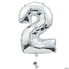 2 Shaped Number Mylar Balloon