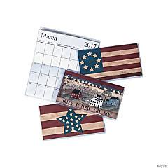 2017 - 2018 Americana Pocket Calendars