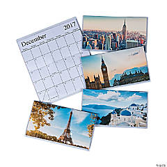 2017 - 2018 Around the World Pocket Calendars