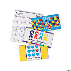 2017 - 2018 Autism Awareness Pocket Calendars