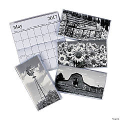 2017 - 2018 Black & White Pocket Calendars